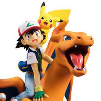 Figura Ash Pikachu y Charizard Pokemon G.E.M.
