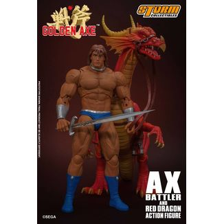 Figura Ax Battler & Red Dragon Golden Axe