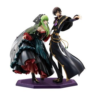C C & Lelouch Lamperouge Figure Code Geass Lelouch of the Resurrection G.E.M.