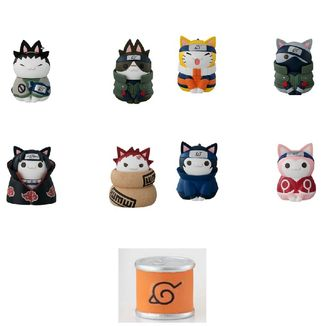 Cats of Konoha Village Deluxe Figure Naruto Shippuden Nyaruto Set