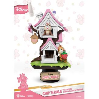 Figura Chip y Chop Tree House Cherry Blossom Disney D-Stage