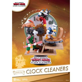 Clock Cleaners Mickey Mouse Figure Disney D-Stage