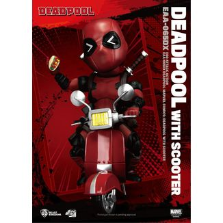 Deadpool with Scooter Deluxe Figure Marvel Comics Egg Attack