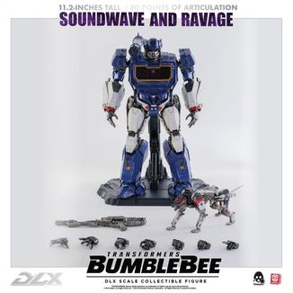 Figura DLX Soundwave & Ravage Transformers Bumblebee Set