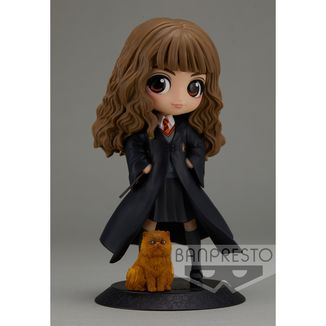 Figura Hermione Granger with Crookshanks Harry Potter Q Posket