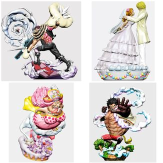 Figura One Piece Log Box Re Birth Whole Cake Island Set