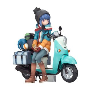 Rin Shima with Scooter Figure Laid Back Camp