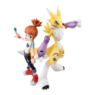 Figura Ruki & Lenamon Digimon Tamers G.E.M.