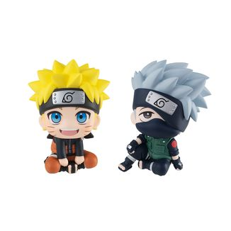 Uzumaki Naruto & Hatake Kakashi Figure Naruto Shippuden Look Up Series Set