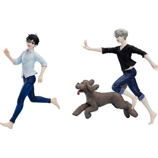 Yuri & Victor & Makkachin Figure Yuri on Ice Set