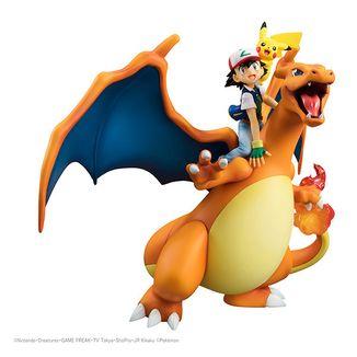 Figura Ash & Charizard & Pikachu Pokemon G.E.M.