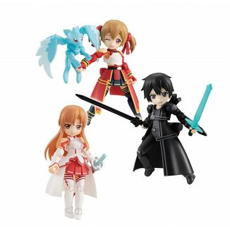 Figura Asuna & Kirito & Shirika Sword Art Online Desktop Army Set