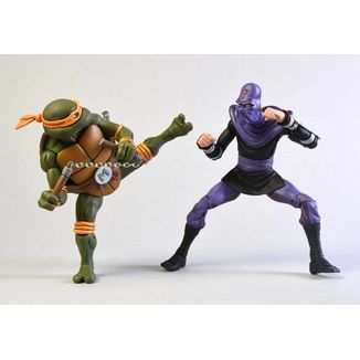 Figura Michelangelo vs Foot Soldier Teenage Mutant Ninja Turtles