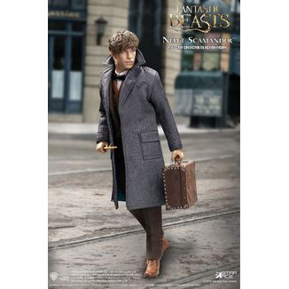 Figura Newt Scamander Grey Coat Animales Fantasticos My Favourite Movie