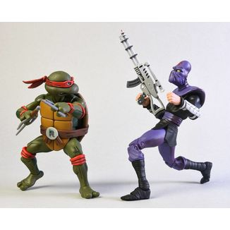 Figura Raphael vs Foot Soldier Teenage Mutant Ninja Turtles