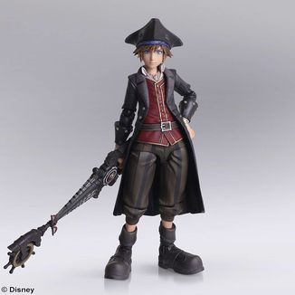 Figura Sora Pirates of the Caribbean Kingdom Hearts III Bring Arts