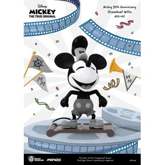 Figura Steamboat Willie Mickey Mouse 90th Anniversary Mini Egg Attack