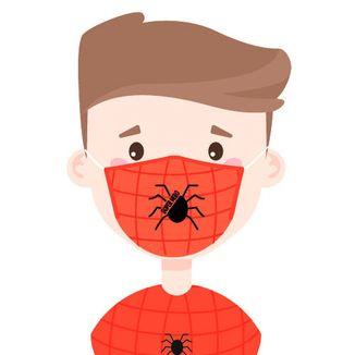 Spider Super Hero Carbon Filter Mask Face Kid