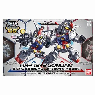 RX-78-2 Gundam Model Kit Cross Silhouette Frame Set SD Gundam