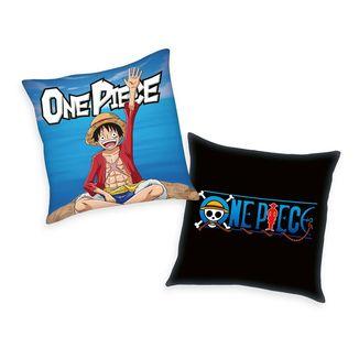 Monkey D. Luffy and  Logo Cushion One Piece 40 x 40 cms
