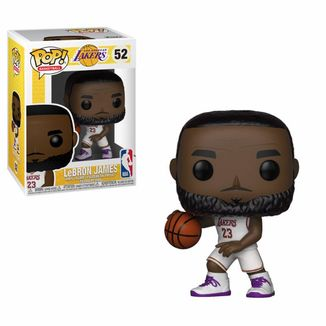LeBron James White Uniform Lakers Funko PoP!