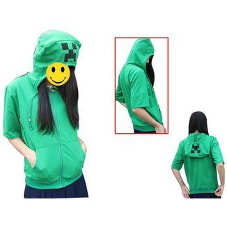 Creeper Short Sleeve Hoodie Minecraft
