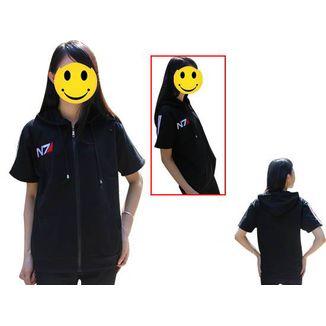 N7 Short Sleeve Hoodie Mass Effect