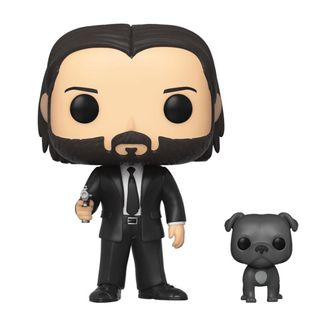John Wick in Black Suit with Dog John Wick Funko POP