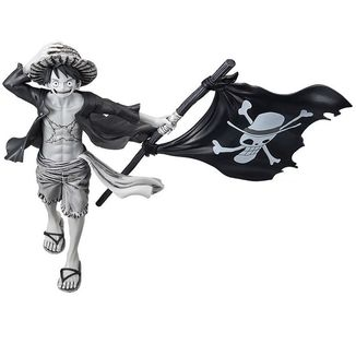 Monkey D. Luffy Monochrome Figura One Piece Magazine