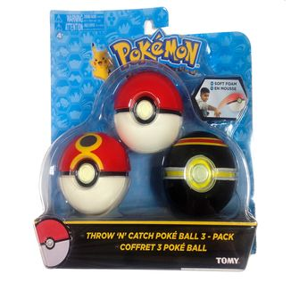 Set Bola Pokemon - Pokeball, Acopio Ball y Lujo Ball