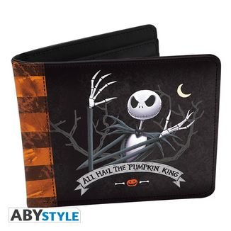 "Jack Skellington Wallet ""All Hail The Pumpkin King"""