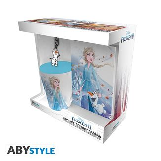 Gift Pack Cup + Notebook + Keychain Elsa Frozen 2 Disney