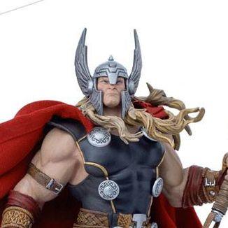 Estatua Thor Unleashed Marvel Comics Deluxe Art Scale