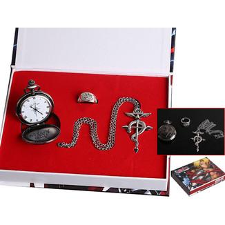 Set Reloj de Bolsillo Colgante y Anillo - Fullmetal Alchemist