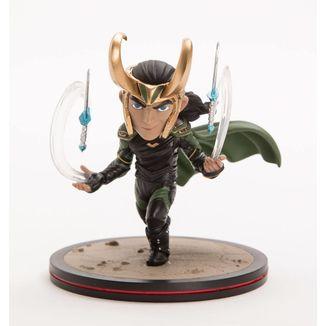 Q-Fig Loki Thor Ragnarok Diorama