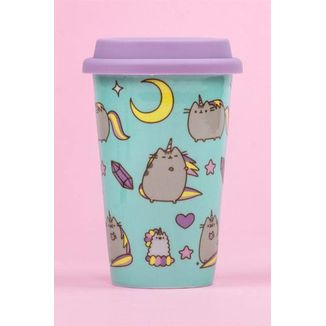 Pusheen Pattern Travel Mug