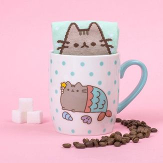 Pusheen Mermaid Mug and Socks Set