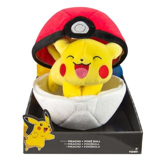 Pokeball and Pikachu Pokemon Plush 20cms