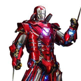 Iron Man Silver Centurion Armor Suit Up Version Figure Marvel Comics Iron Man 3 Movie Masterpiece Hot Toys
