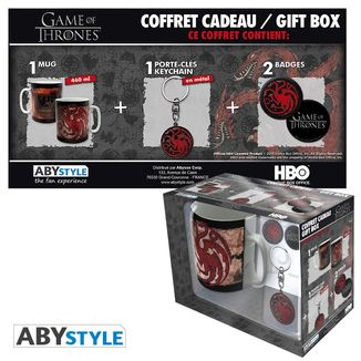 Targaryen Mug, Keychain and Badges Games Of Thrones