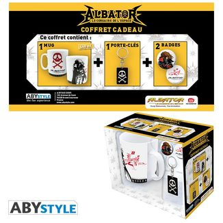Albator Mug, Keychain and Badges Captain Harlock