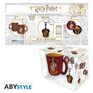 Gryffindor Mug, Keychain and Badges Harry Potter