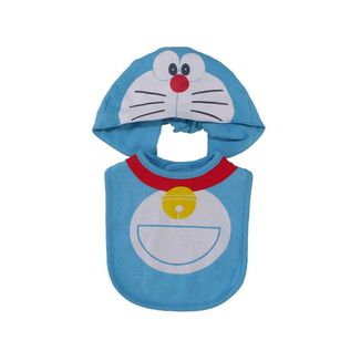 Doraemon Baby Hat and Bib Set