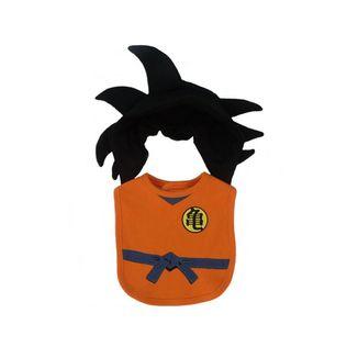 Babero y Gorrito para Bebé Son Goku Dragon Ball