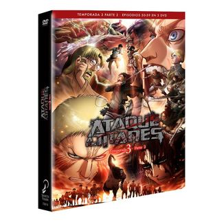 Atack on Titans Bluray Season 3 Part 2 DVD