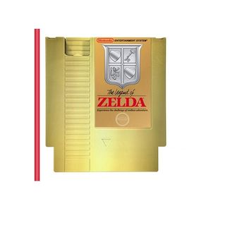Golden NES Cartridge Beverage Canteen The Legend of Zelda