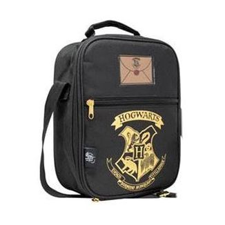Bolso Termo Hogwarts Black & Gold Harry Potter