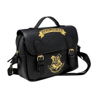 Hogwarts Black & Gold (Satchel Style) Lunch Bag Harry Potter