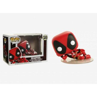 Deadpool Lying Down Bobble Funko Head Marvel Comics PoP!