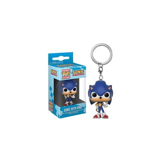 Llavero Sonic with Ring Sonic The Hedgehog PoP!